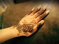latest Ramadan mehndi design for hand back side