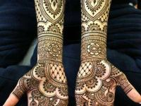 Peacock-Mehandi-Pattern full front hand and arm