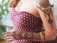 full arms and shoulder-mehndi-heena-design