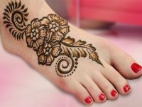 Black Motifs Foot Mehndi Designs