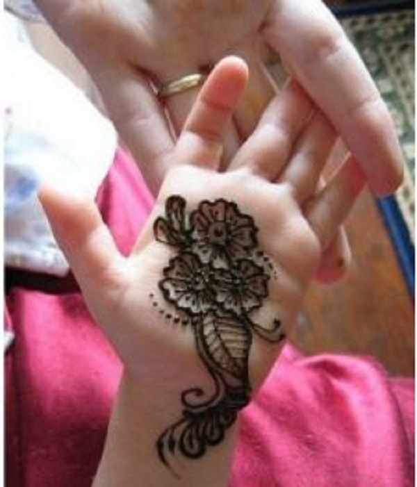 front hand mehndi design for chhildren kids