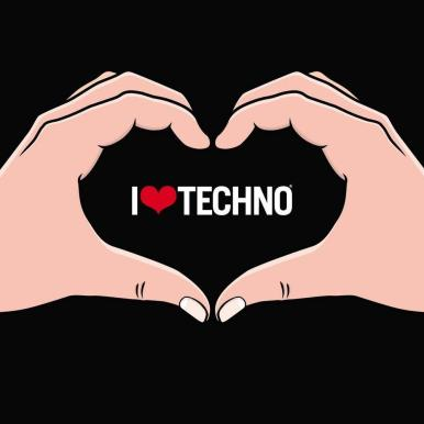 i love techno wallpaper