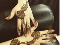 rose mehndi designs set both hand for kids
