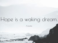 Aristotle Quote Hope is a waking dream