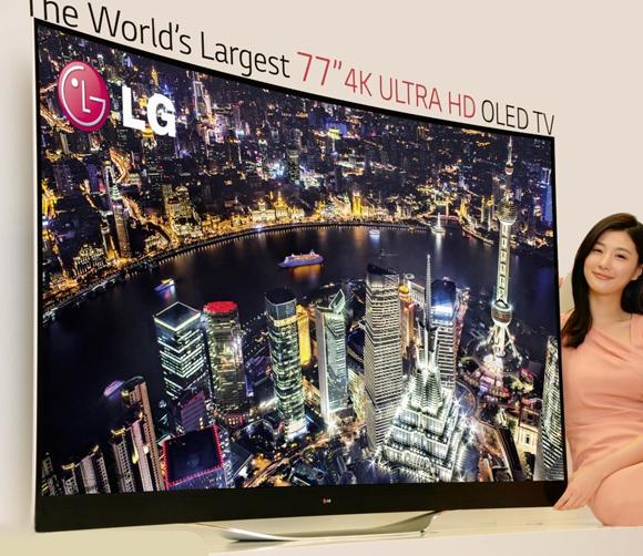 LG 77 INCH 4K ULTRA HD OLED TV 580