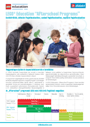 "LEGO® Education ""Afterschool Programs"""