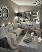55 Black And Gray Living Room Decorating Ideas 2020 13