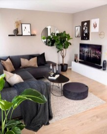 55 Black And Gray Living Room Decorating Ideas 2020 17