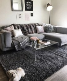 55 Black And Gray Living Room Decorating Ideas 2020 23