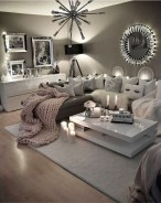 55 Black And Gray Living Room Decorating Ideas 2020 33