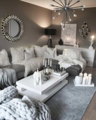 55 Black And Gray Living Room Decorating Ideas 2020 36