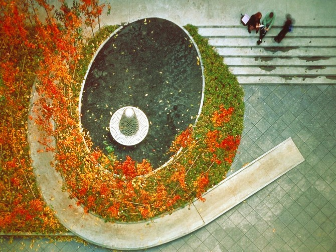 Vera List Courtyard; credit: Michael Van Valkenburgh Associates, Inc.