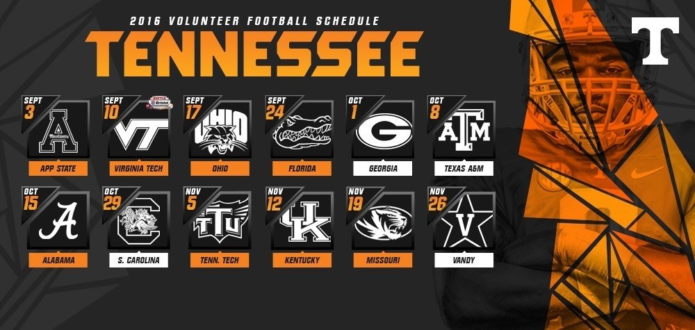 2016 Vols Football Schedule