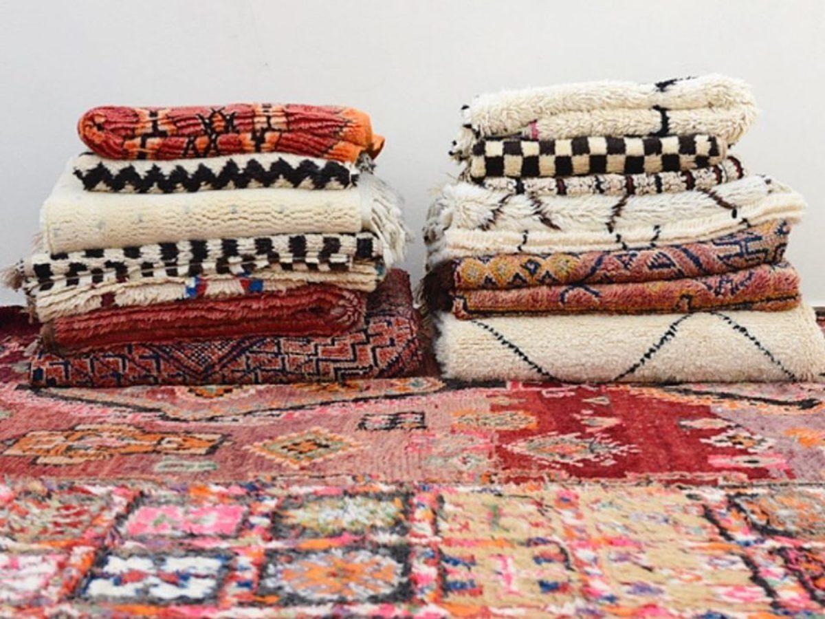 sur une large collection de tapis berberes
