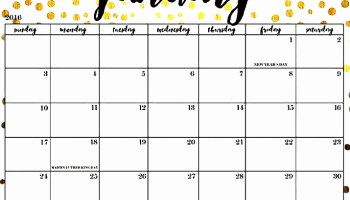 Blank Calendar January 2019 Printable Template Download
