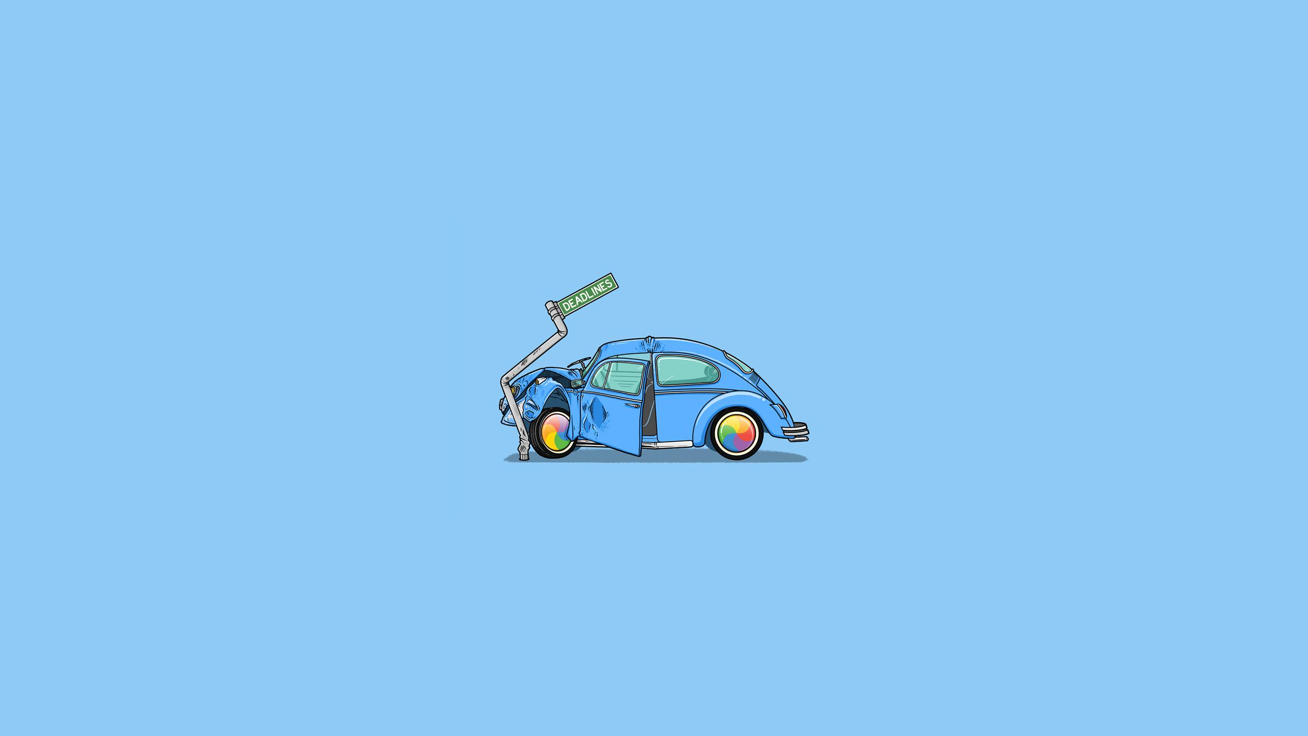 crash car minimalism, hd artist, 4k wallpapers, images, backgrounds