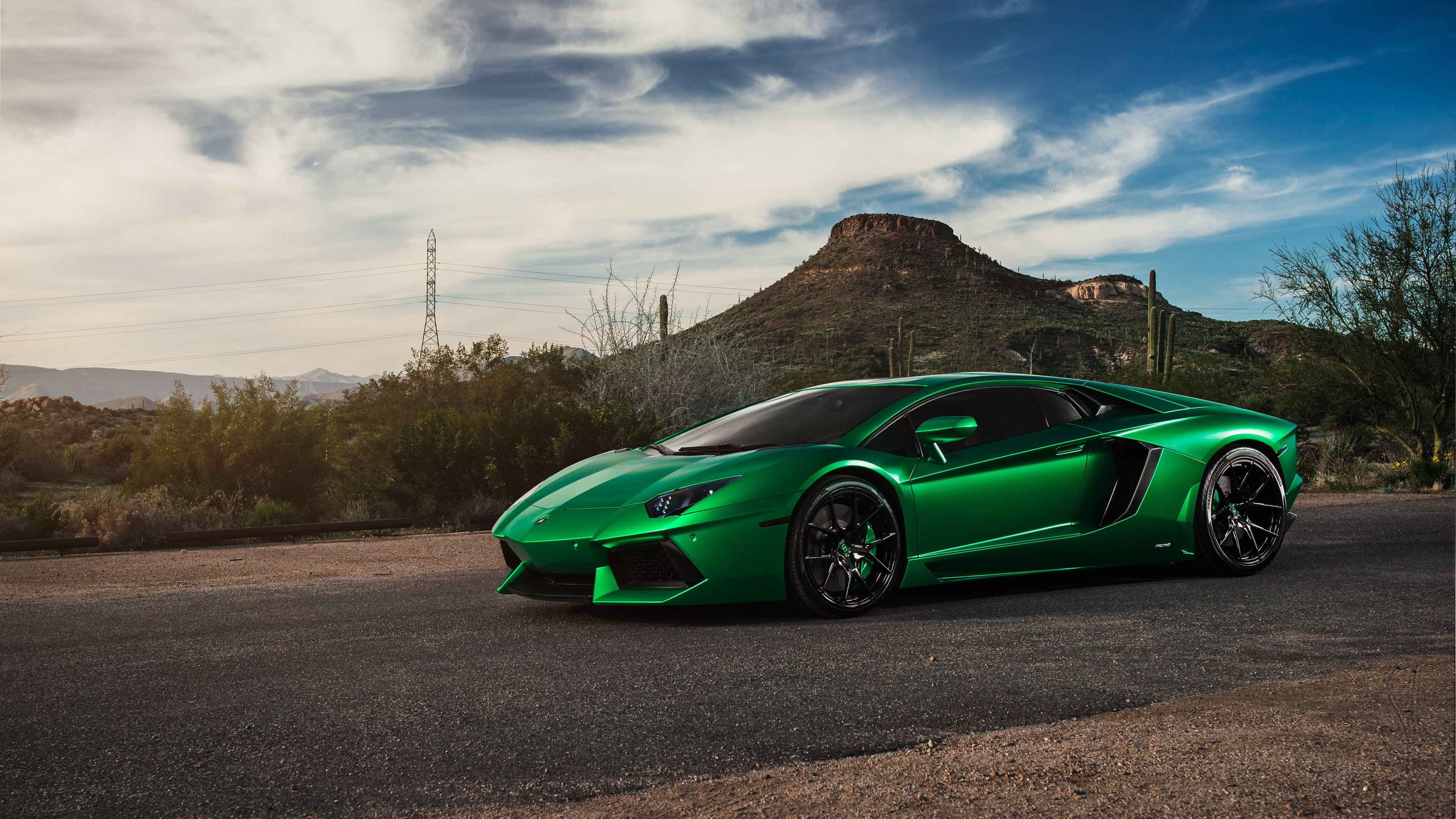 Lamborghini Aventador Green 4k  HD Cars  4k Wallpapers  Images     Lamborghini Aventador Green 4k