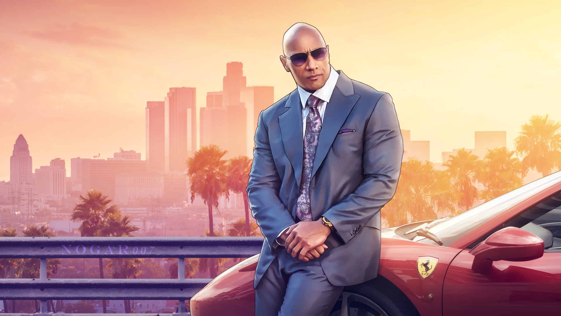 Rock As A GTAV Character  HD Games  4k Wallpapers  Images     Rock As A GTAV Character