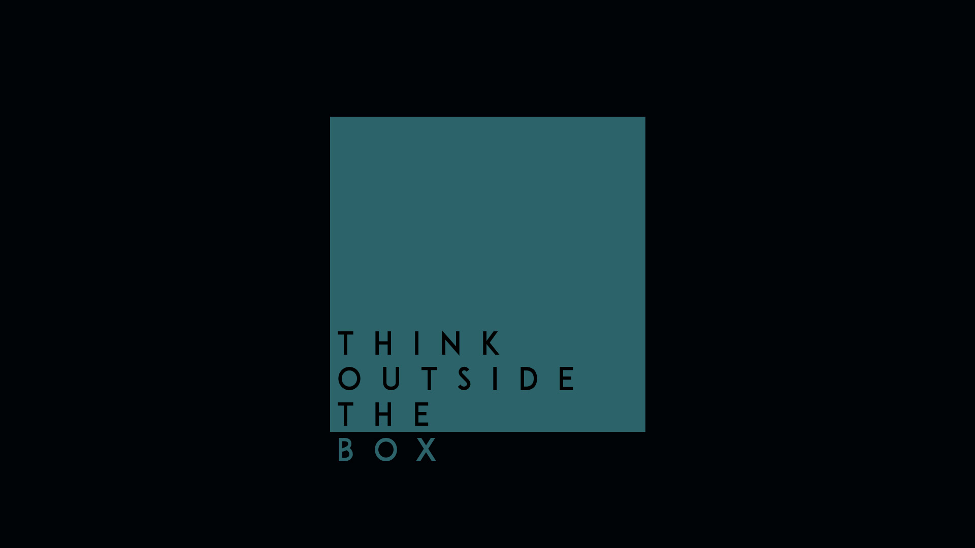 Think Outside The Box Hd Hd Typography 4k Wallpapers