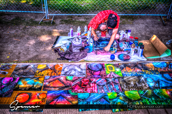 artist, paint, paint can, street art, portland, oregon