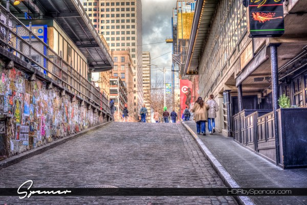 seattle, post alley, pike place market, city of seattle, street photography, urban