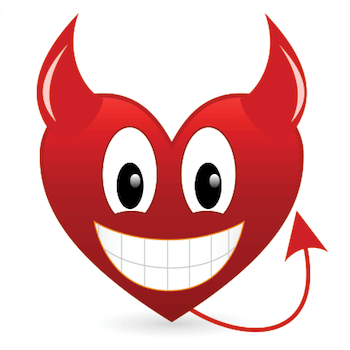 devil heart grinning emoticon