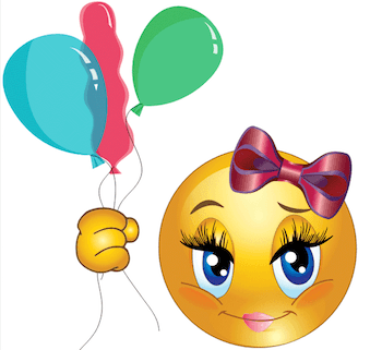 Girl Smiley with balloons