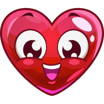 Smiling Heart Face emoticon
