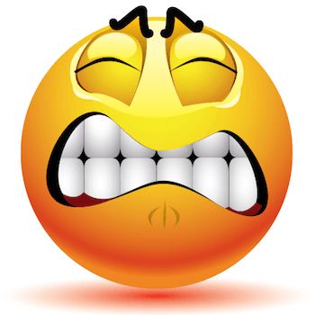 frustrated and irritated emoticon