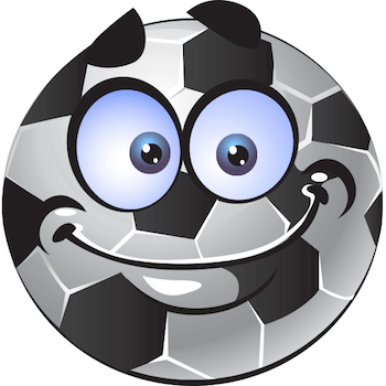 Excited soccer smiley