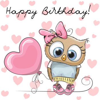 Happy b'day pink owl