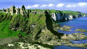Ireland beautiful Dunluce Castle - a holiday spot