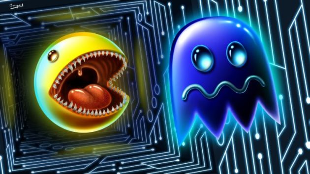 tongues  Digital art  Artwork  Pac Man  Video games  Retro games     tongues  Digital art  Artwork  Pac Man  Video games  Retro games
