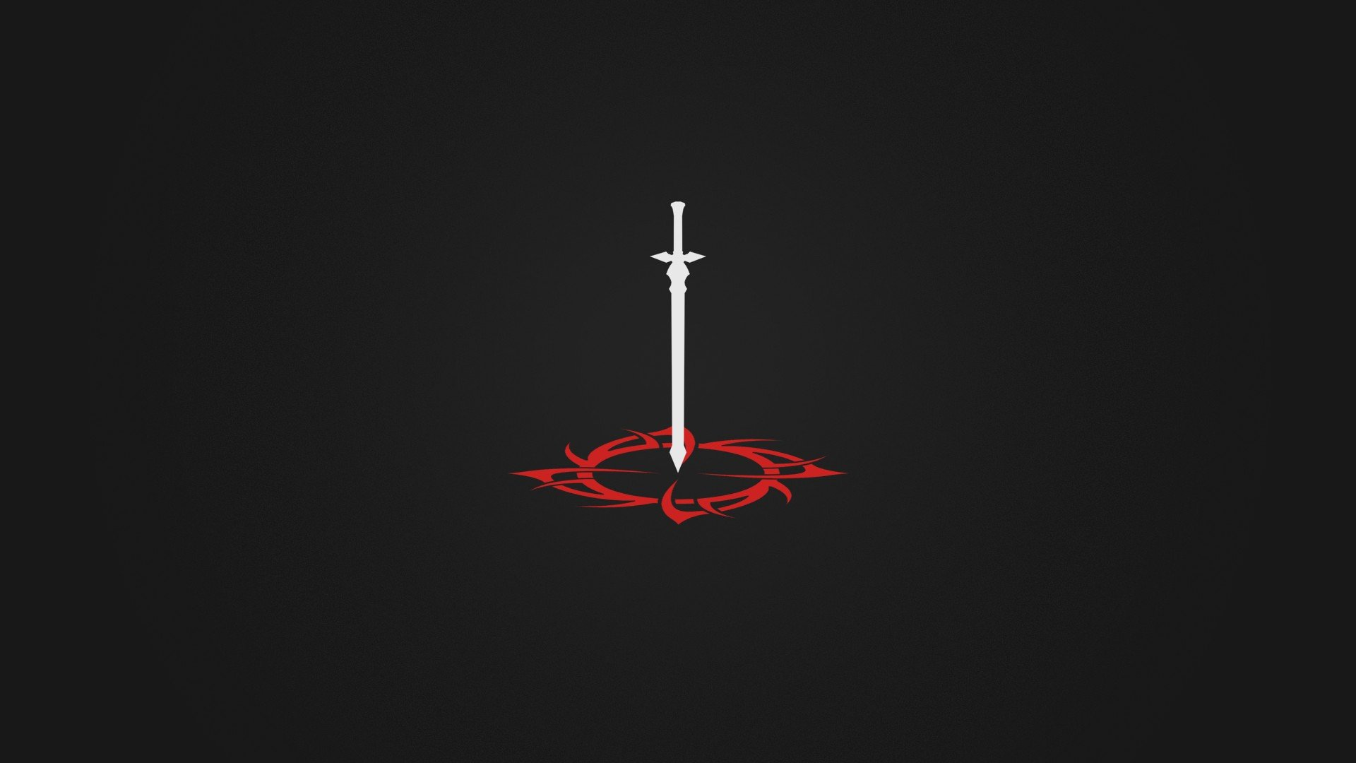 Minimalism Sword Black White Anime Hd Wallpapers Desktop And Mobile Images Photos