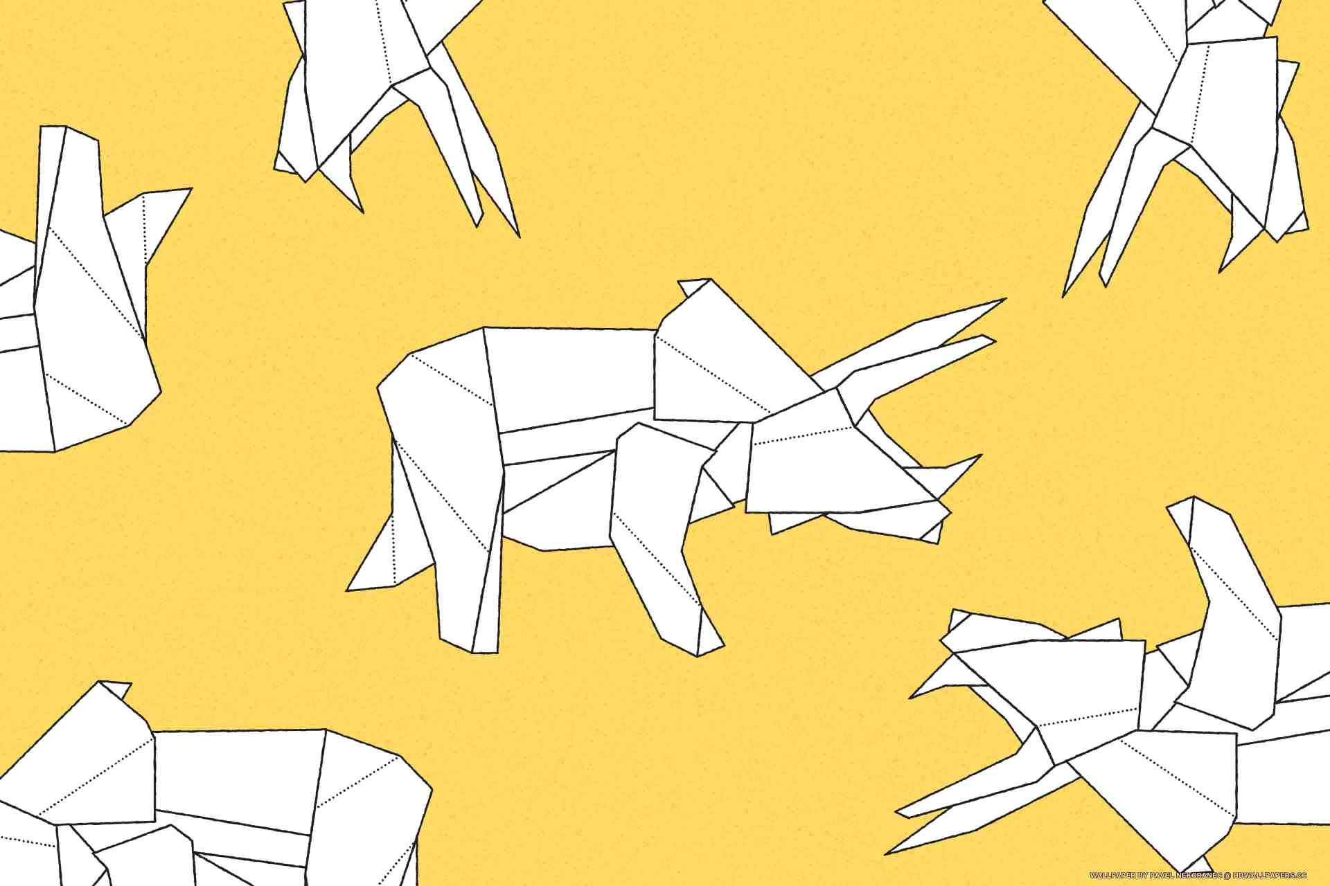 Origami Triceratops - HD Wallpapers - photo#32
