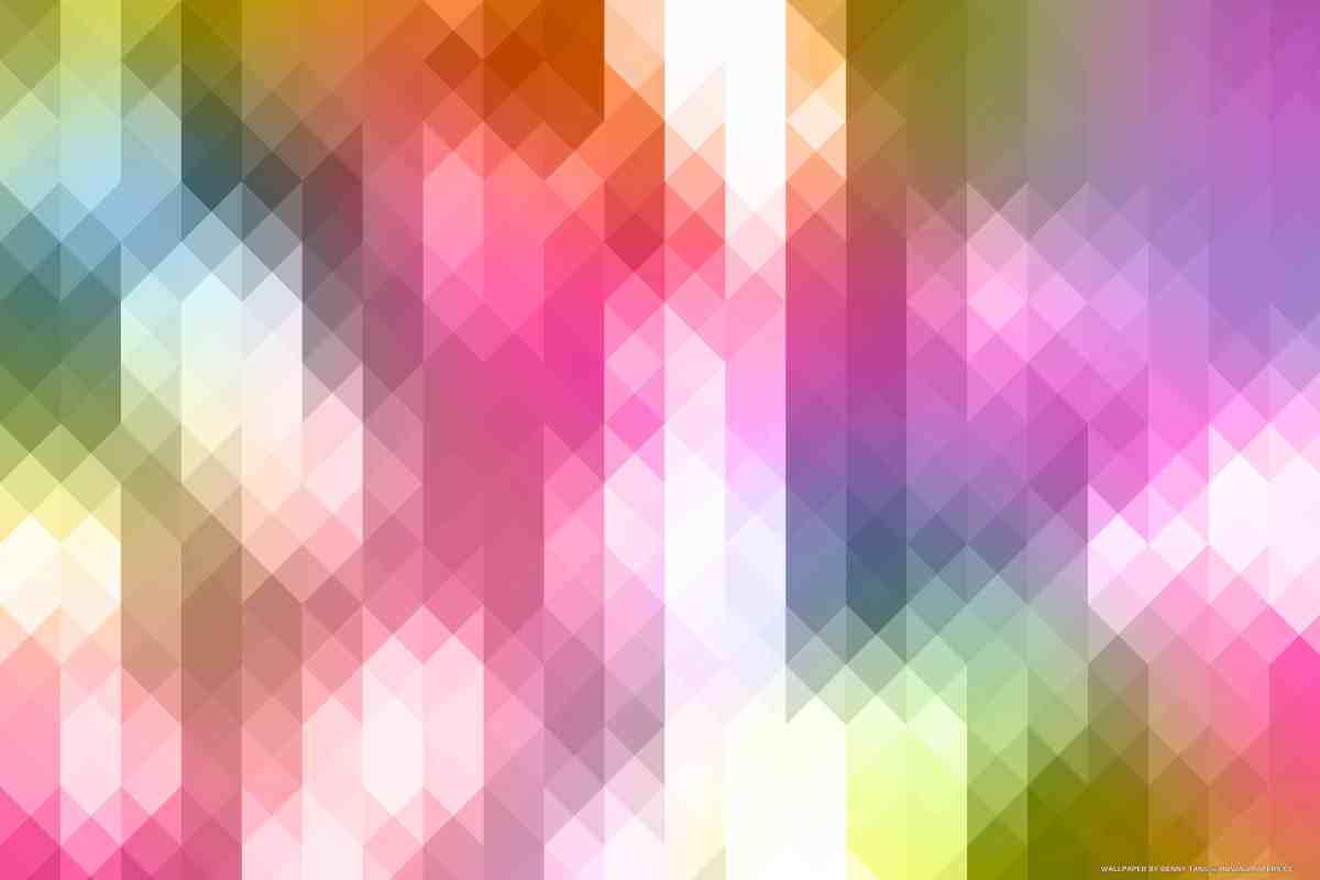Vibrant Triangle Pixels