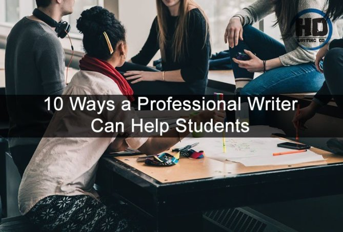10 Ways a Professional Writer Can Help Students