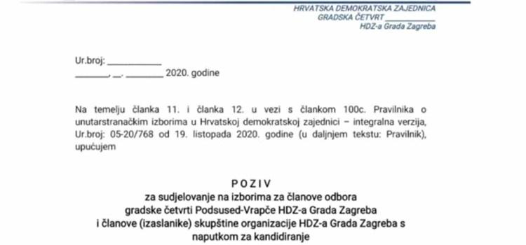 Predlošci dokumenata za provođenje unutarstranačkih izbora