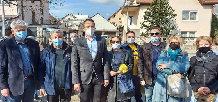 Tomislav Sokol u Gajnicama na obilježavanju Međunarodnog dana narcisa