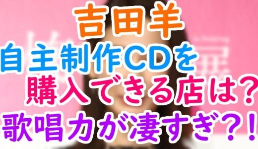 吉田羊の自主制作CDのジャケット画像や購入できるお店は?下積み時代の歌唱力が凄い!