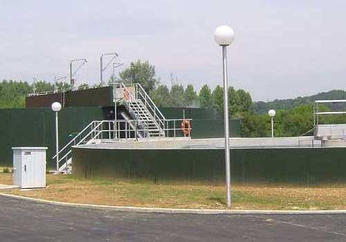 Station d'épuration à boues activées 13 200 E.H. HEA Pau 64