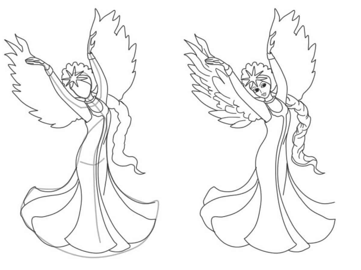 Картинки принцесса лебедь карандашом