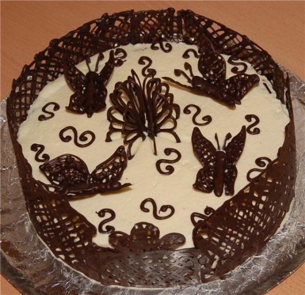 Узор На Торт Из Шоколада
