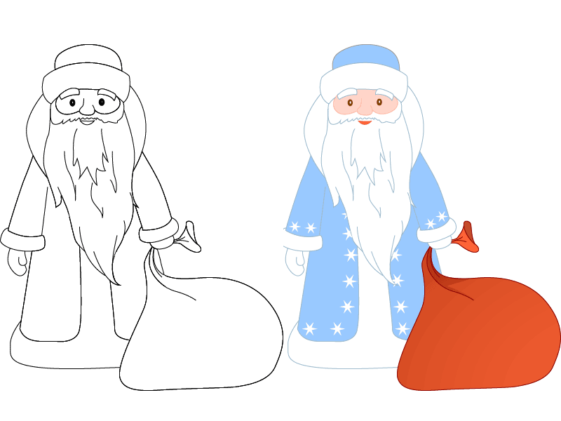 Картинки для деда мороза для срисовки, вам