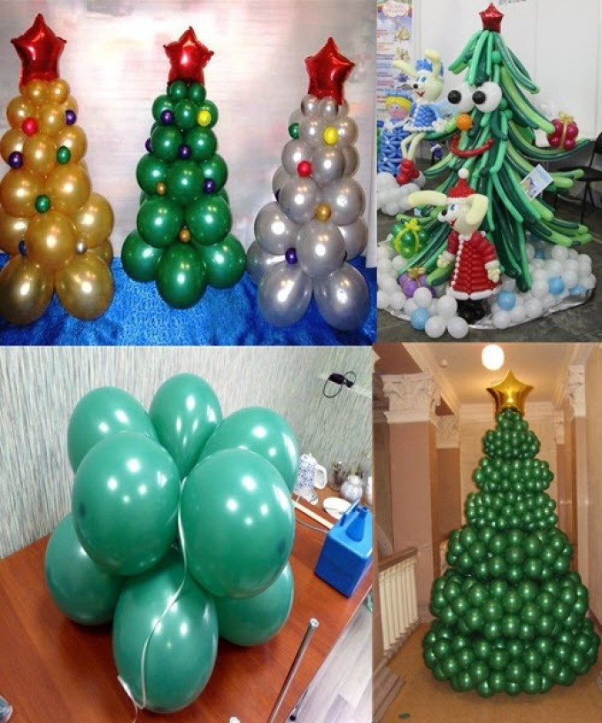 Beauty Christmas trees made from balls