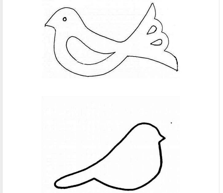 Шаблон птички для открытки, для выпускного детского