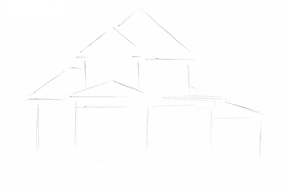Как-нарисовать-дом-карандашом-поэтапно2