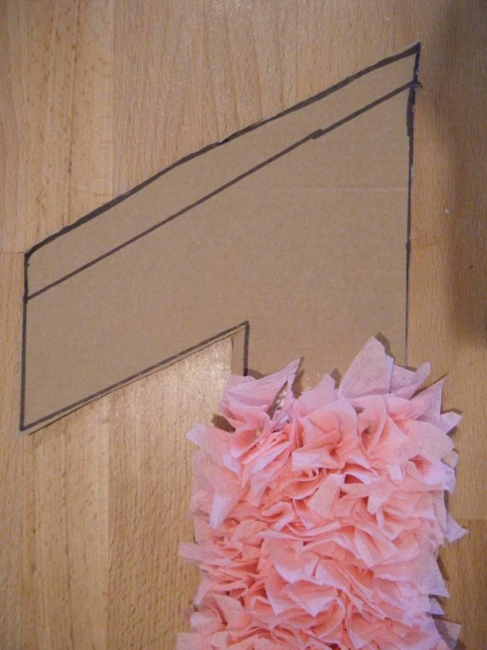Картонның негізіндегі желім квадраттар