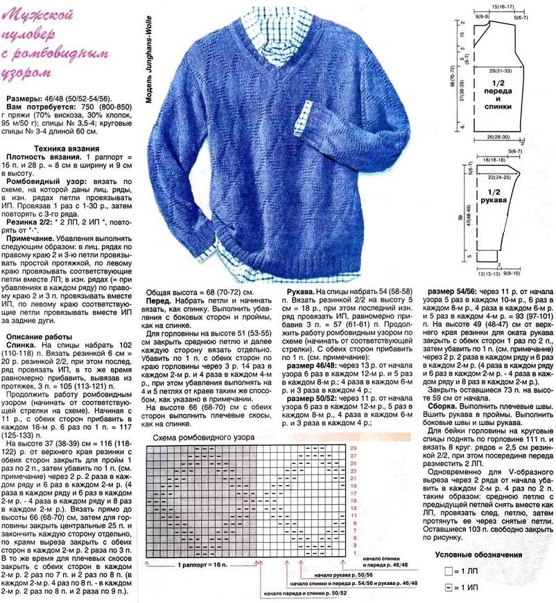 पुरुष Rhombid स्वेटर