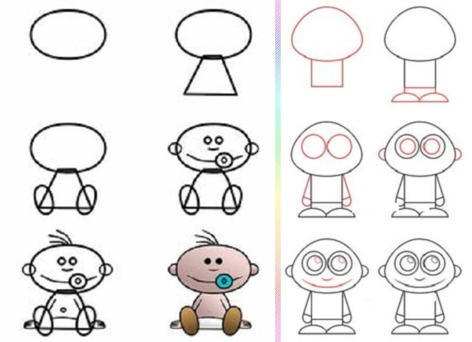 Гифка анекдоты, смешные рисунки карандашом для детей поэтапно